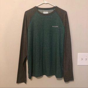 Columbia Omni-Wick Green & Grey Long Sleeve Tee